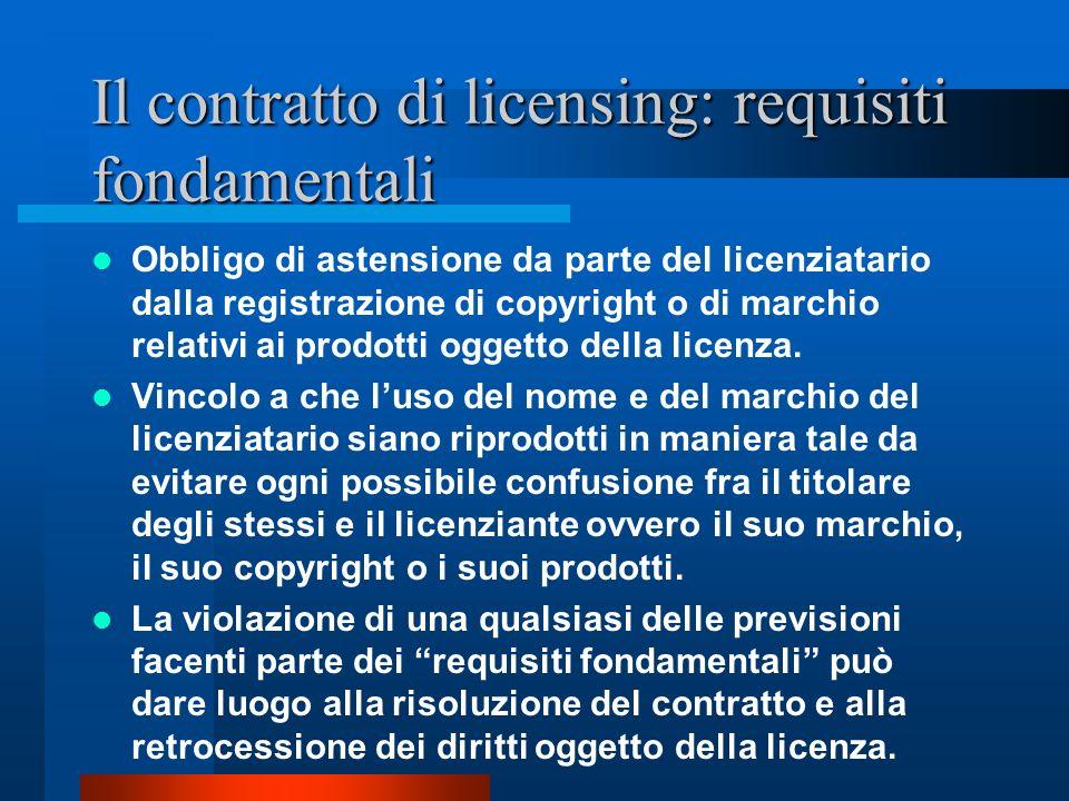 Il contratto di licensing: requisiti fondamentali