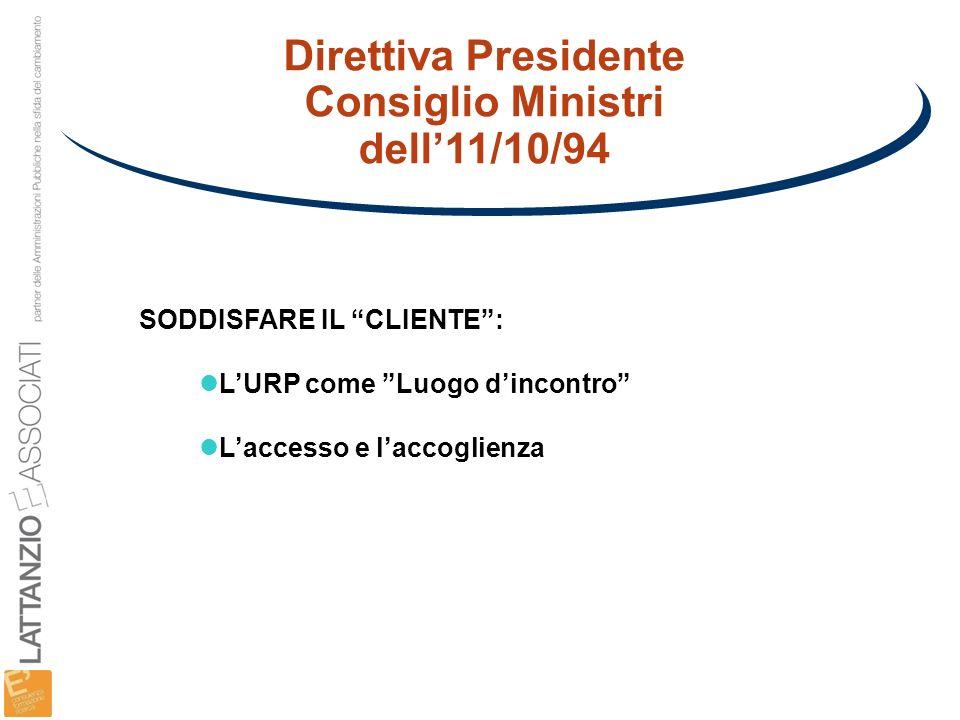 Direttiva Presidente Consiglio Ministri dell'11/10/94