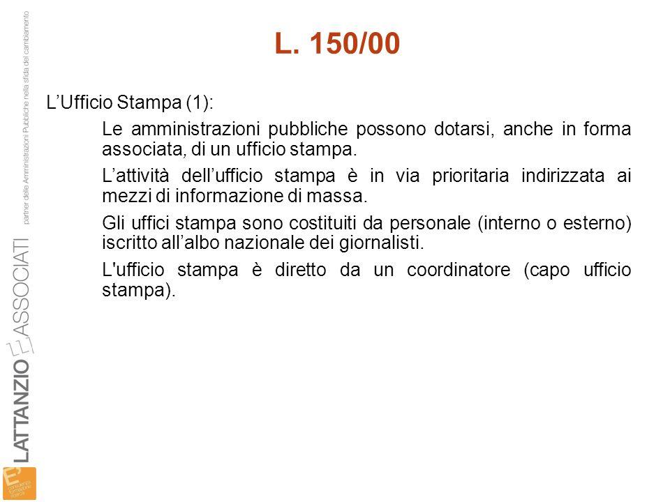 L. 150/00 L'Ufficio Stampa (1):