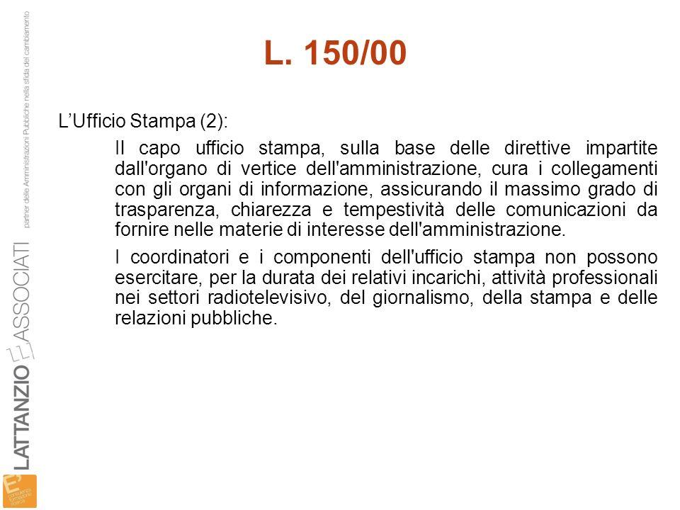 L. 150/00 L'Ufficio Stampa (2):