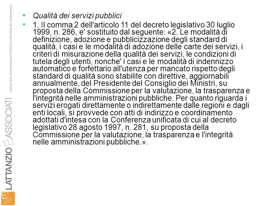 Qualità dei servizi pubblici