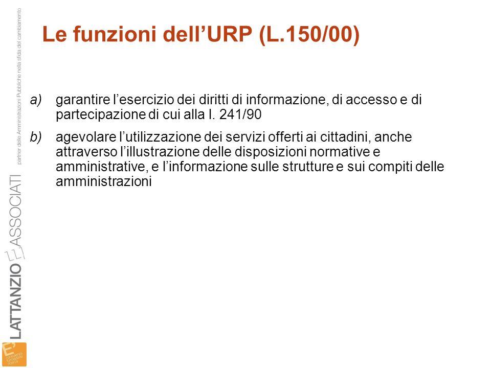 Le funzioni dell'URP (L.150/00)