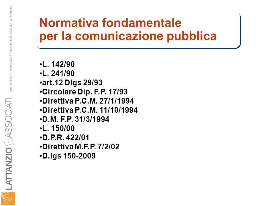 Normativa fondamentale per la comunicazione pubblica