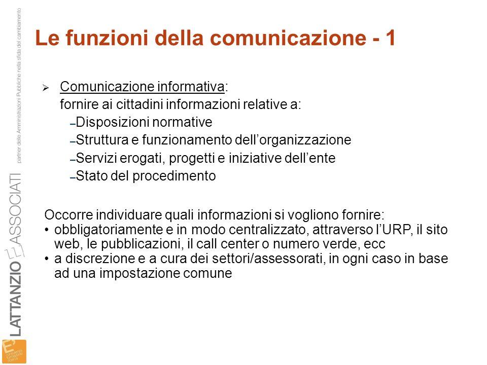 Le funzioni della comunicazione - 1