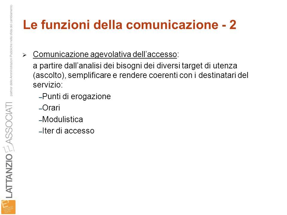 Le funzioni della comunicazione - 2