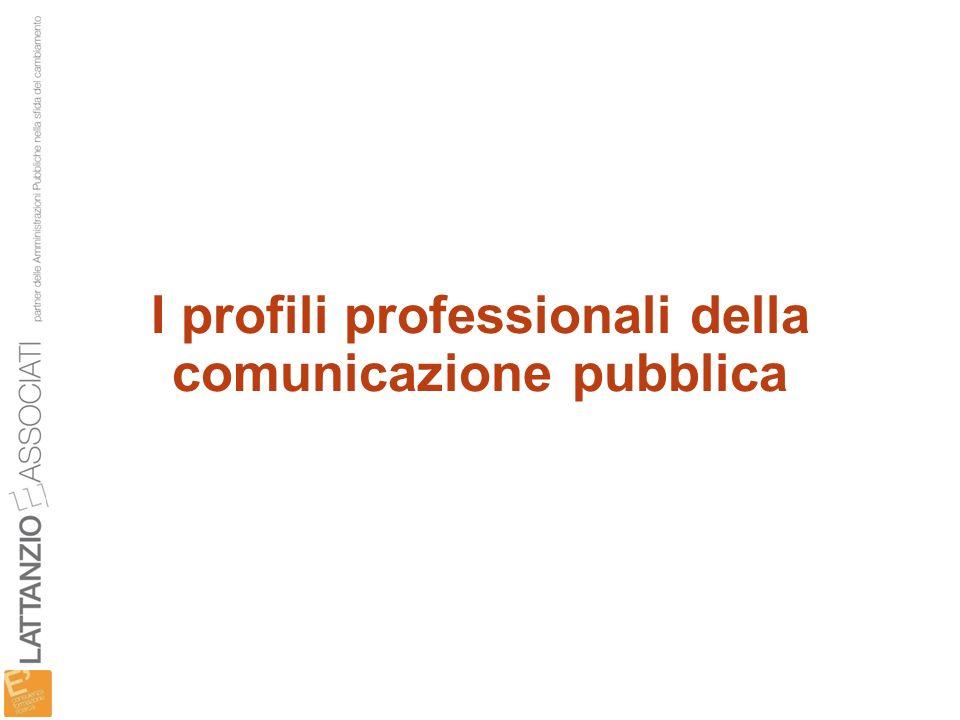 I profili professionali della comunicazione pubblica