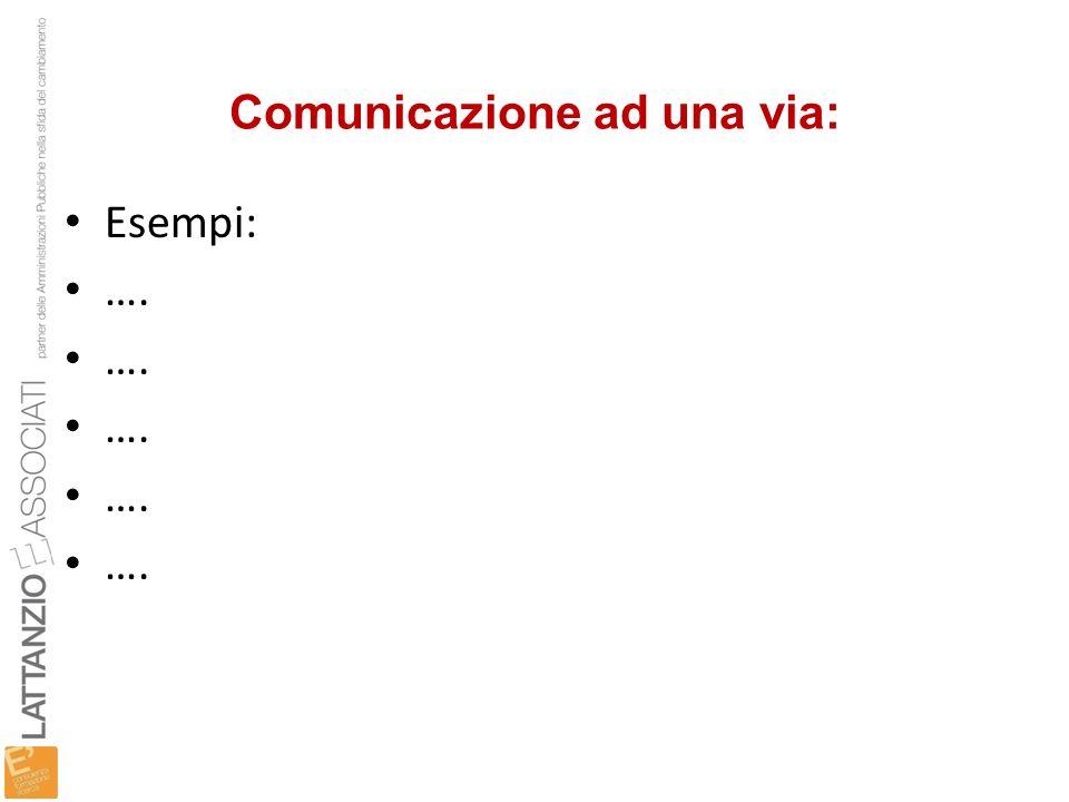 Comunicazione ad una via: