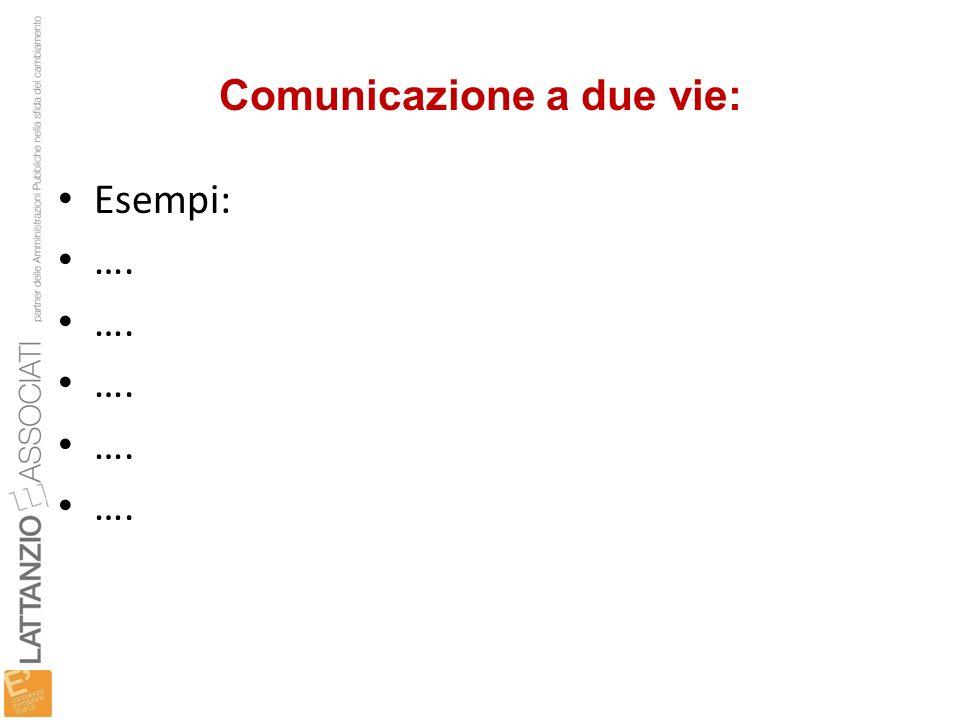 Comunicazione a due vie: