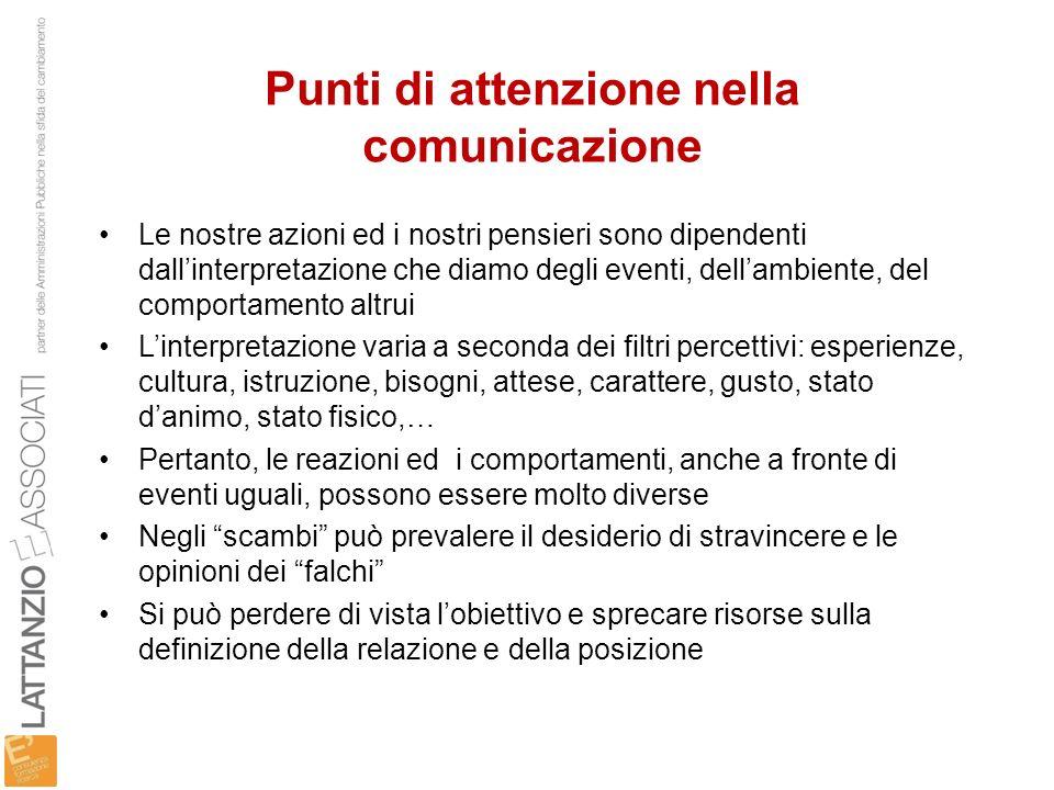 Punti di attenzione nella comunicazione