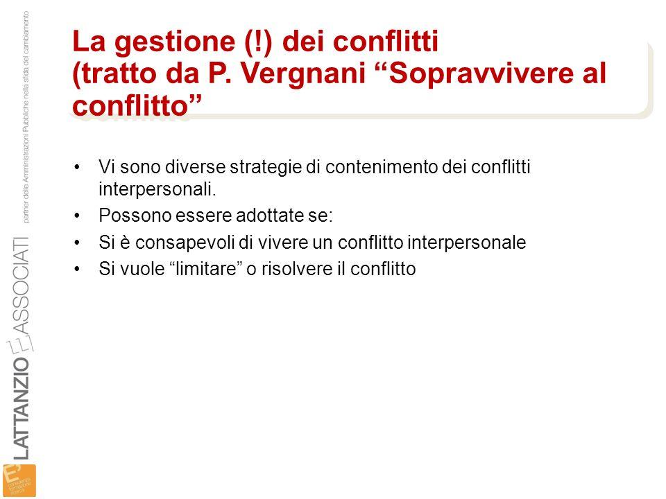La gestione (. ) dei conflitti (tratto da P