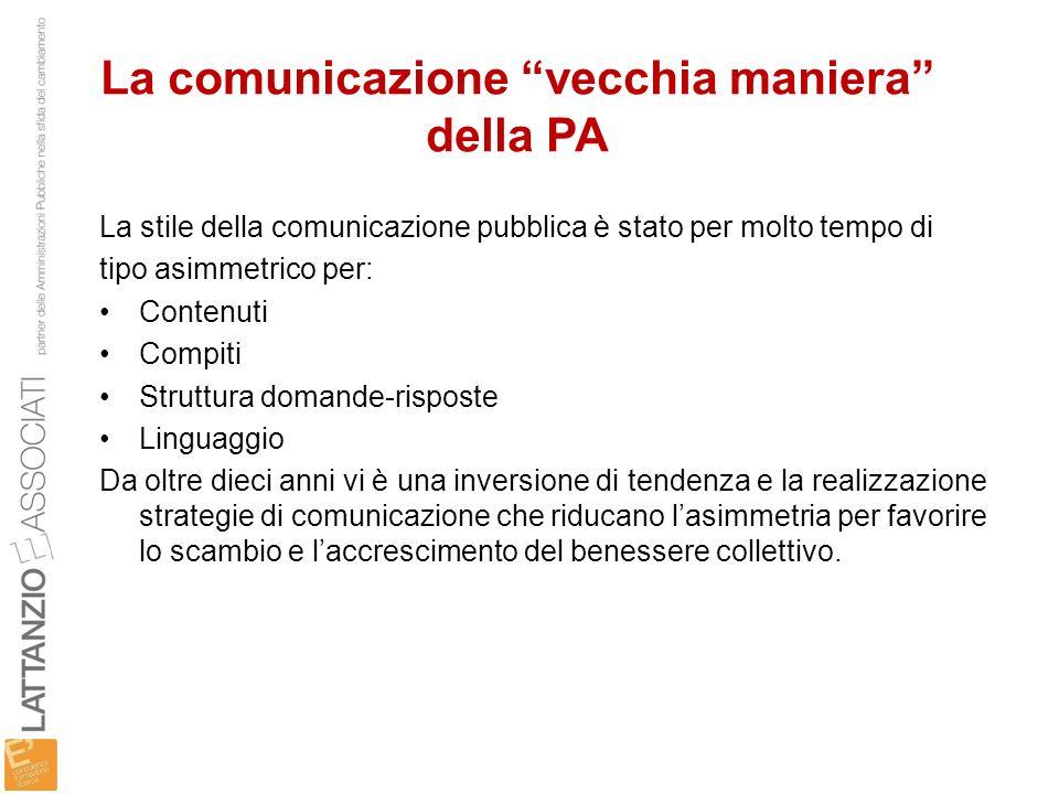 La comunicazione vecchia maniera della PA