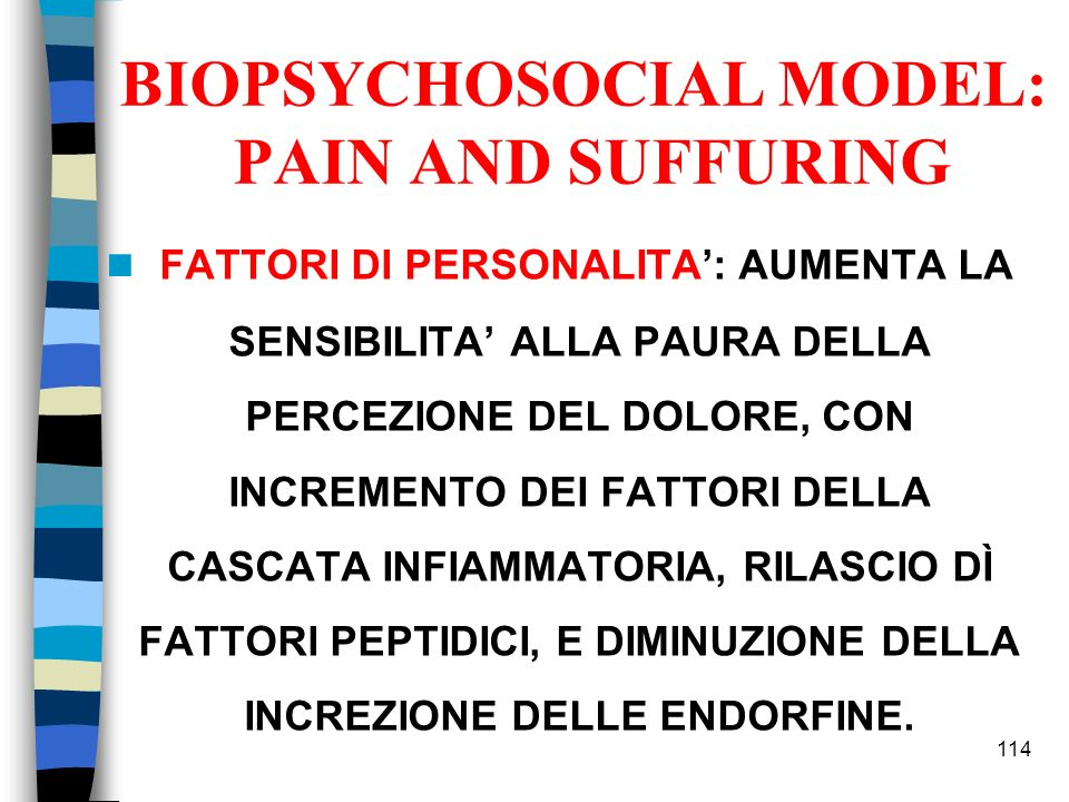 BIOPSYCHOSOCIAL MODEL: PAIN AND SUFFURING
