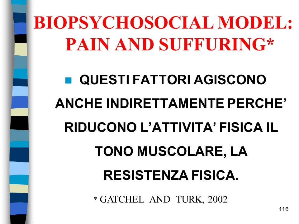 BIOPSYCHOSOCIAL MODEL: PAIN AND SUFFURING*
