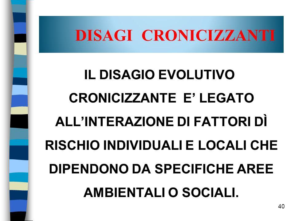 DISAGI CRONICIZZANTI