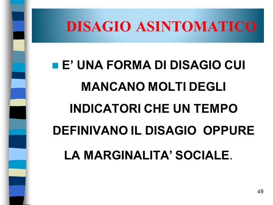 LA MARGINALITA' SOCIALE.