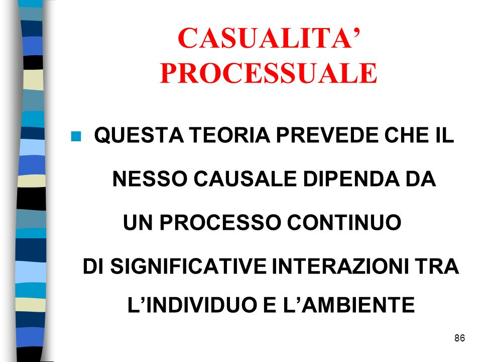 CASUALITA' PROCESSUALE