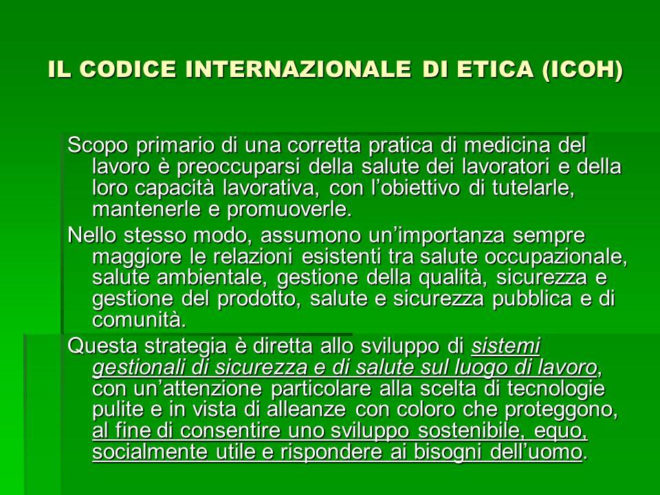 IL CODICE INTERNAZIONALE DI ETICA (ICOH)