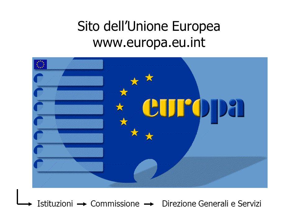 Sito dell'Unione Europea www.europa.eu.int
