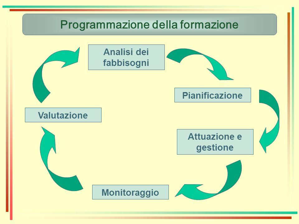 Programmazione della formazione Analisi dei fabbisogni