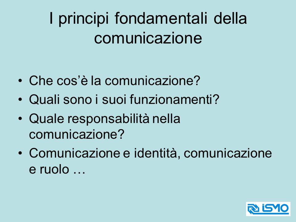 I principi fondamentali della comunicazione