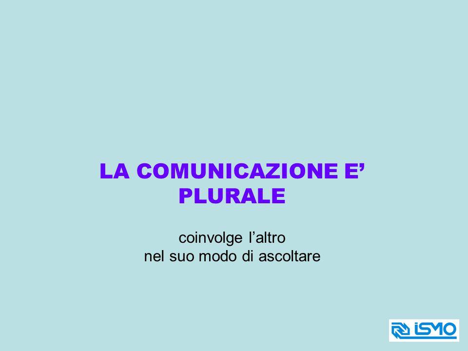 LA COMUNICAZIONE E' PLURALE