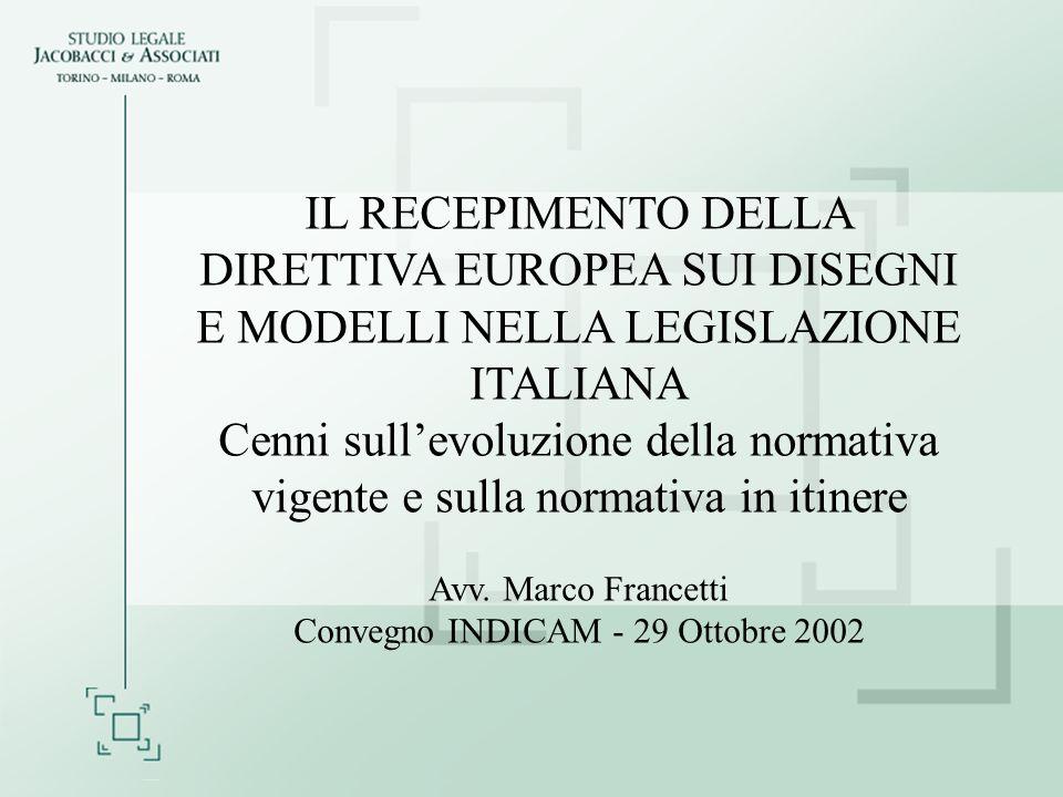 Convegno INDICAM - 29 Ottobre 2002