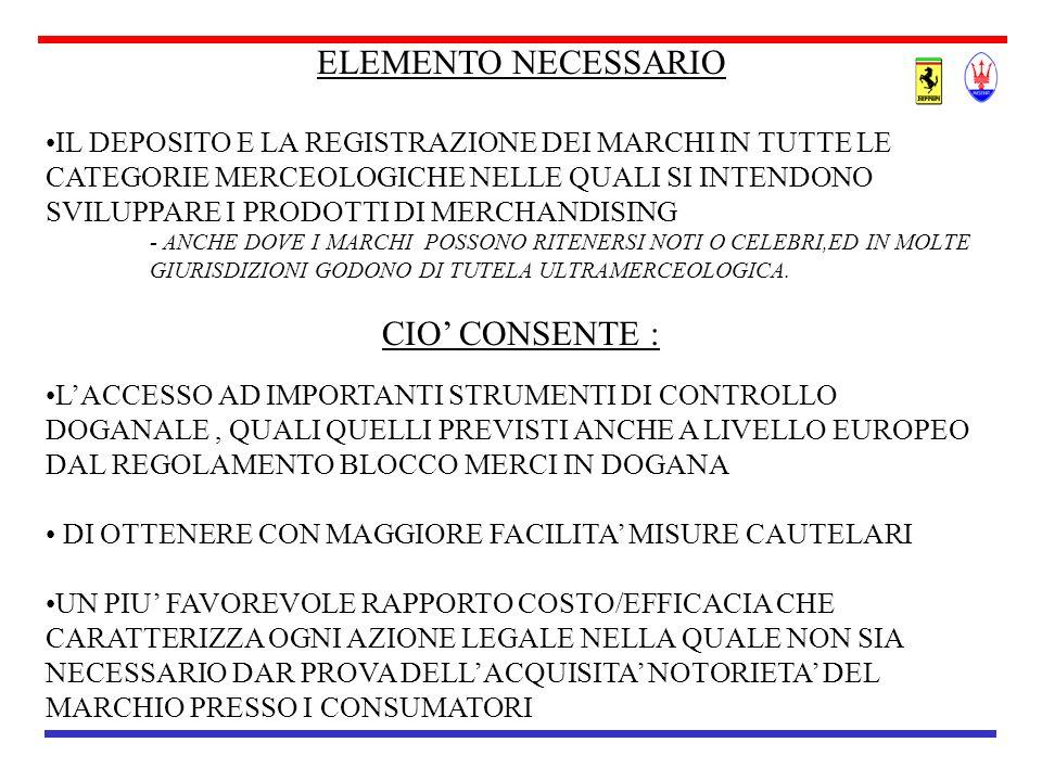 ELEMENTO NECESSARIO CIO' CONSENTE :