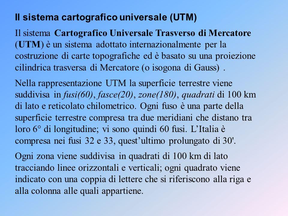 Il sistema cartografico universale (UTM)