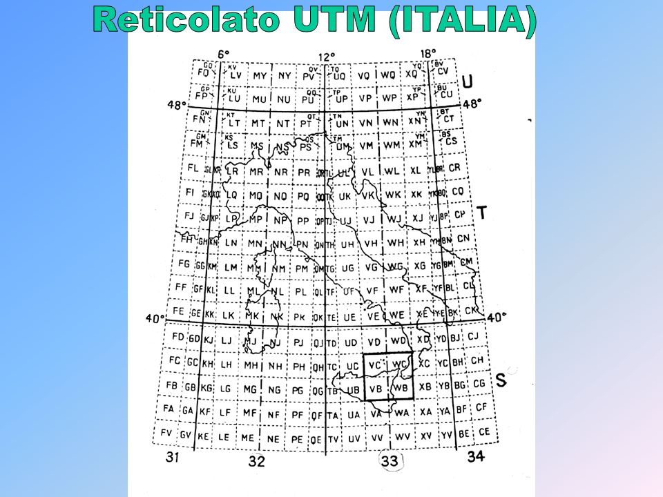 Reticolato UTM (ITALIA)
