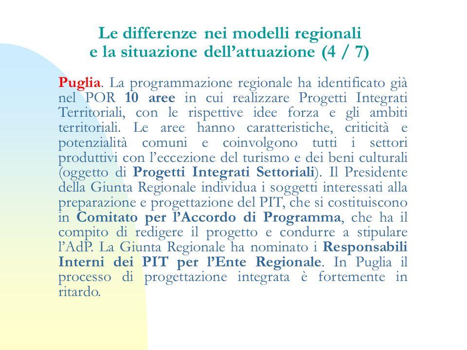 Le differenze nei modelli regionali e la situazione dell'attuazione (4 / 7)