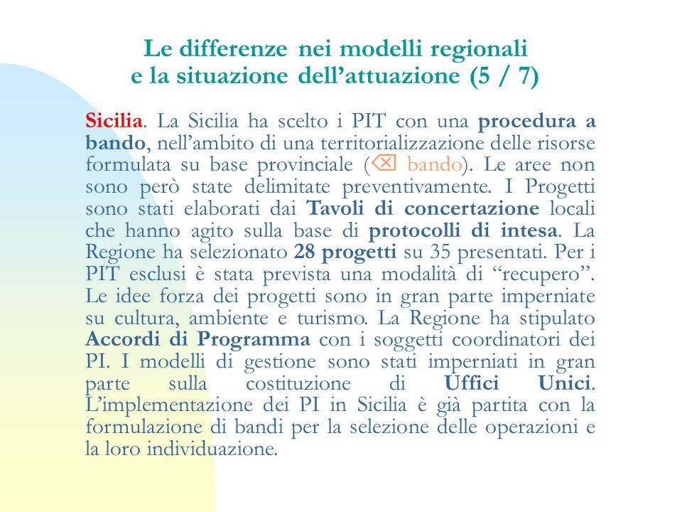 Le differenze nei modelli regionali e la situazione dell'attuazione (5 / 7)