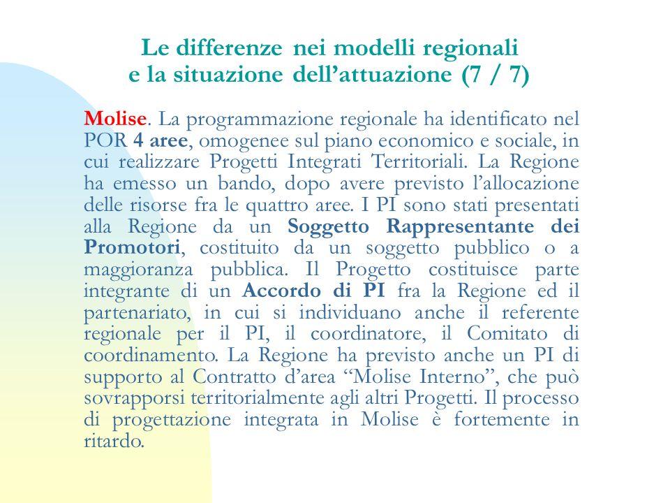 Le differenze nei modelli regionali e la situazione dell'attuazione (7 / 7)