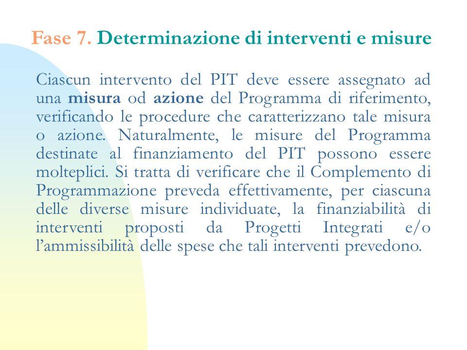 Fase 7. Determinazione di interventi e misure