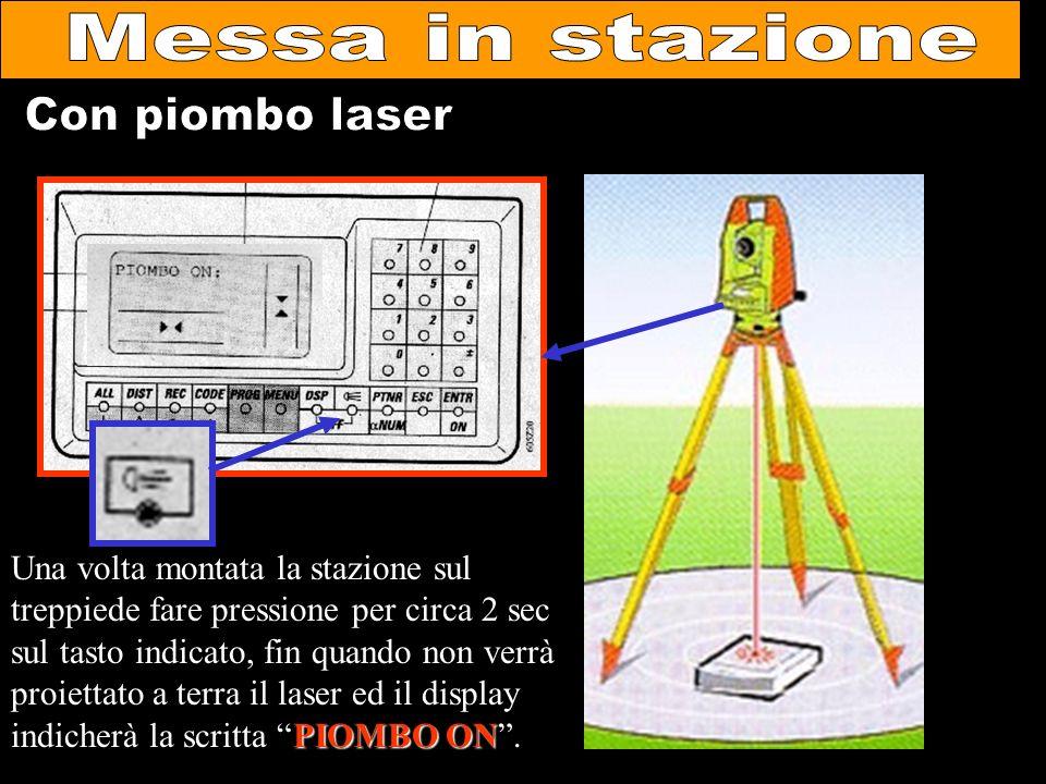 Messa in stazione Con piombo laser