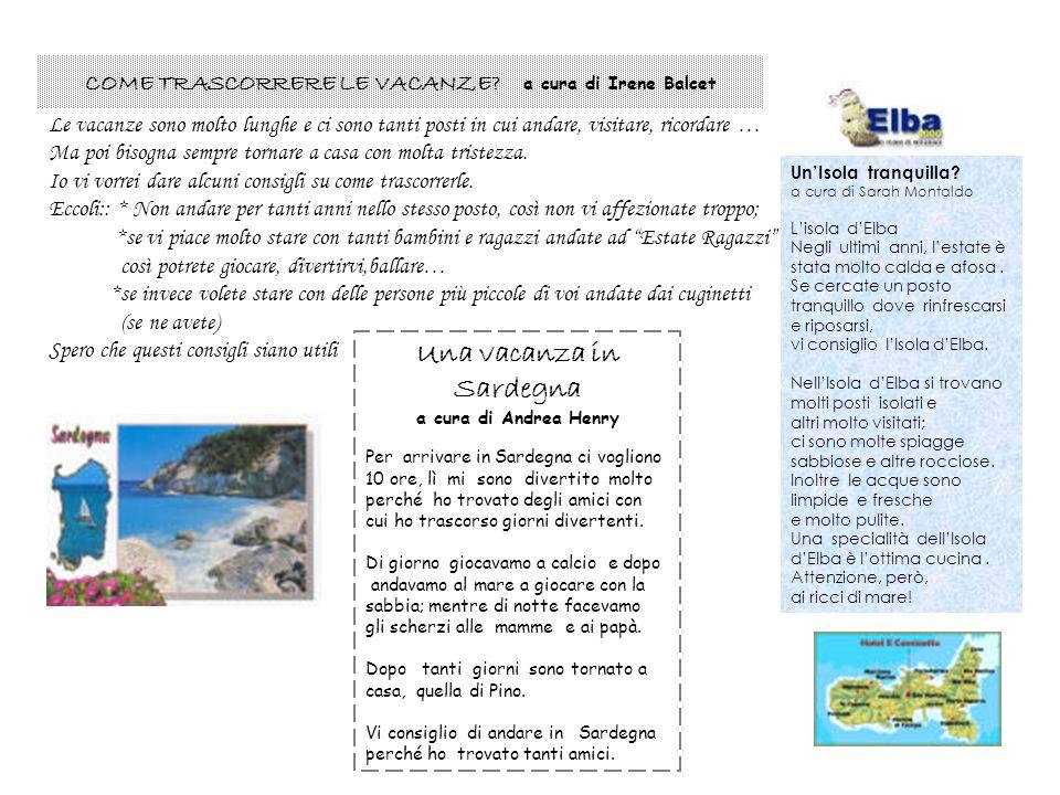 Una vacanza in Sardegna