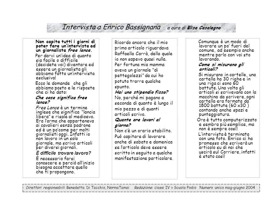 Intervista a Enrico Bassignana a cura di Elisa Casalegno
