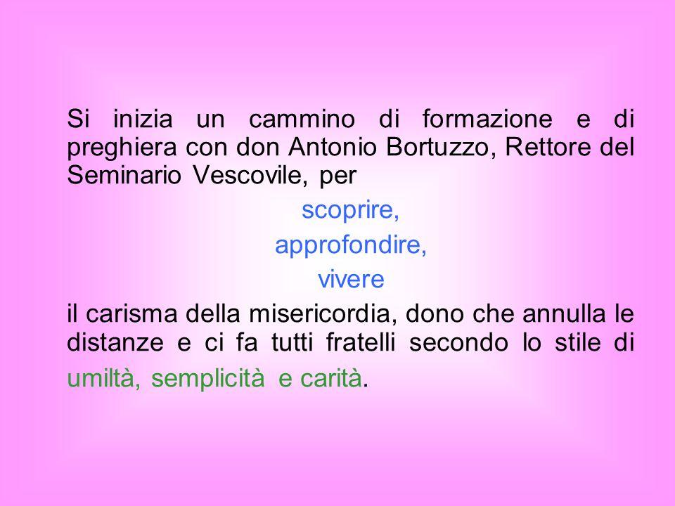 Si inizia un cammino di formazione e di preghiera con don Antonio Bortuzzo, Rettore del Seminario Vescovile, per
