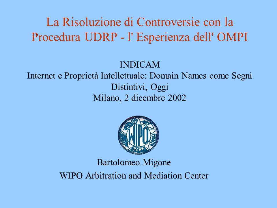 Bartolomeo Migone WIPO Arbitration and Mediation Center