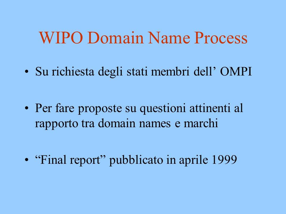WIPO Domain Name Process