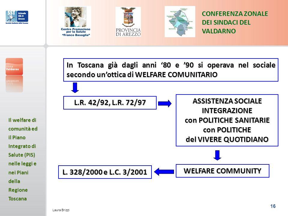 ASSISTENZA SOCIALE INTEGRAZIONE con POLITICHE SANITARIE