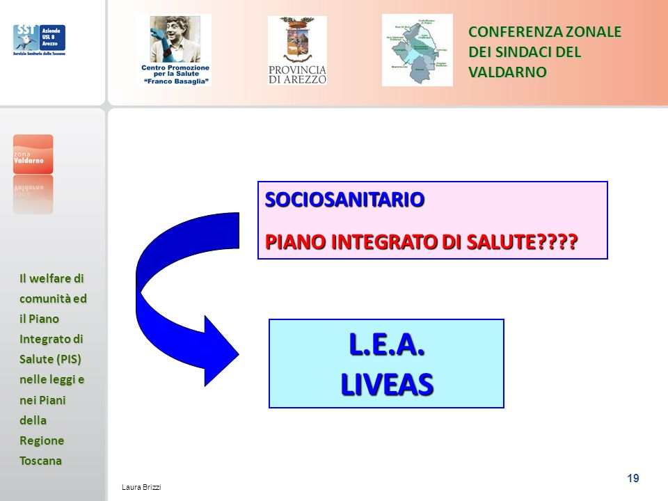 L.E.A. LIVEAS SOCIOSANITARIO PIANO INTEGRATO DI SALUTE
