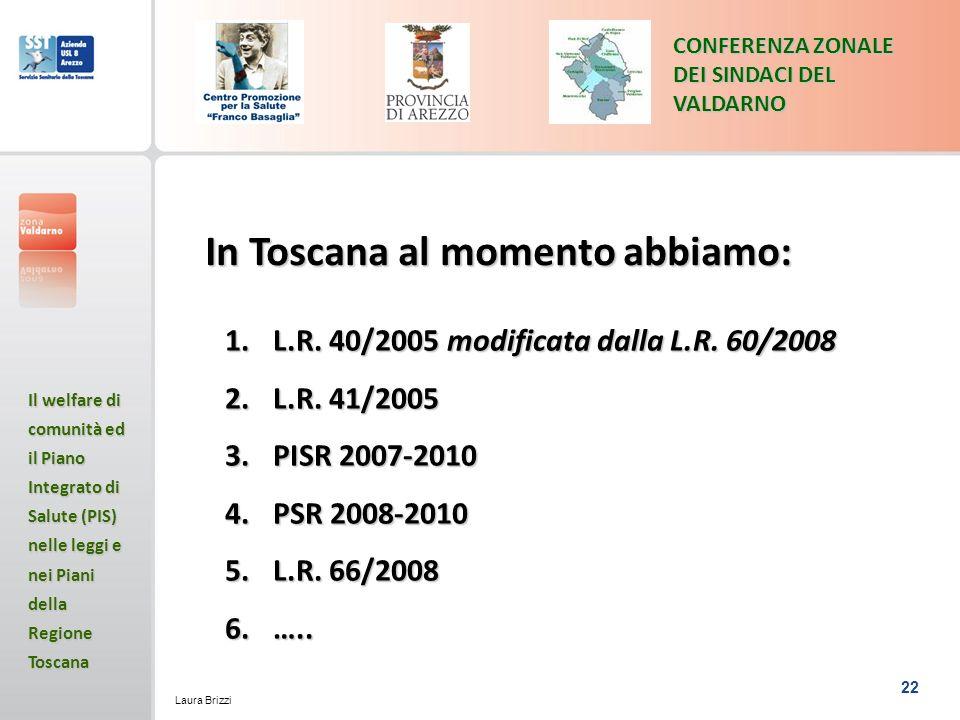In Toscana al momento abbiamo:
