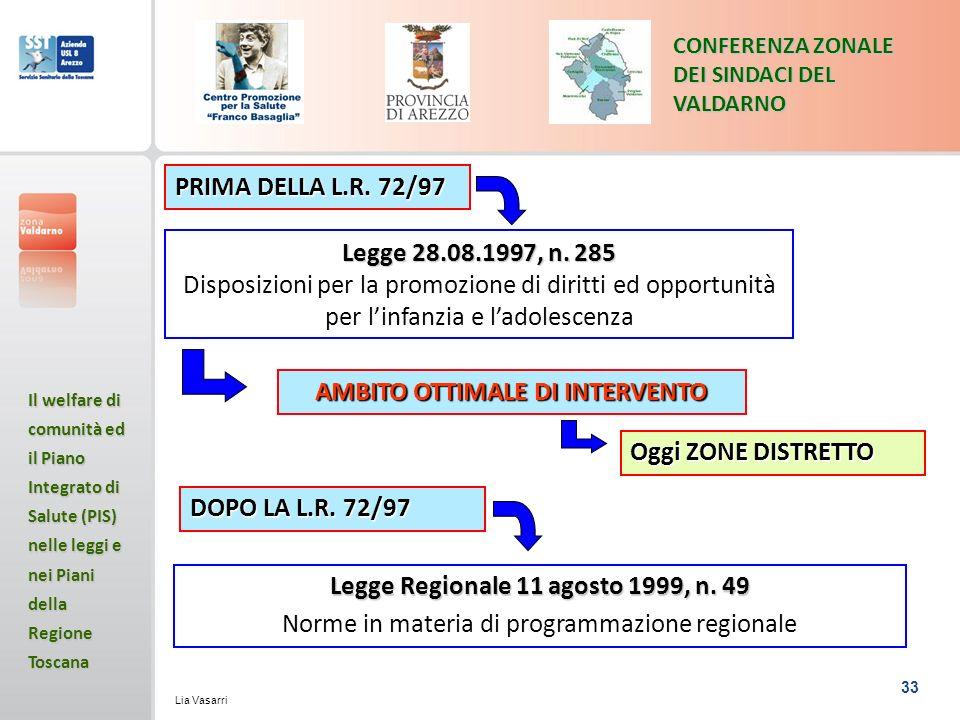 AMBITO OTTIMALE DI INTERVENTO Legge Regionale 11 agosto 1999, n. 49