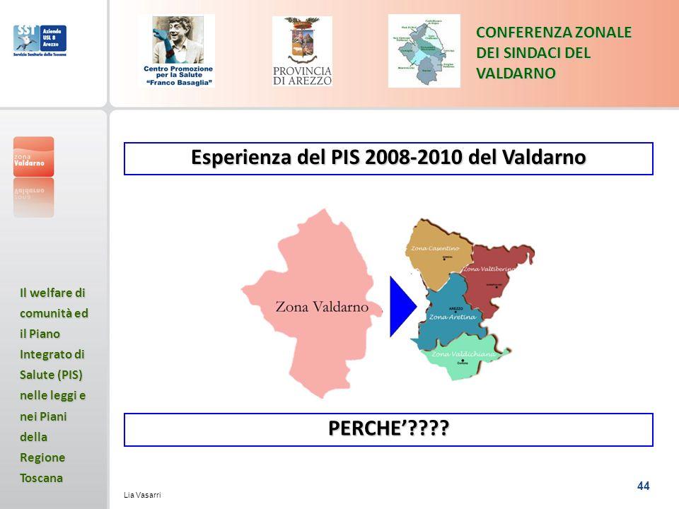 Esperienza del PIS 2008-2010 del Valdarno