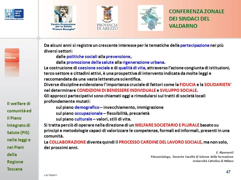 CONFERENZA ZONALE DEI SINDACI DEL VALDARNO