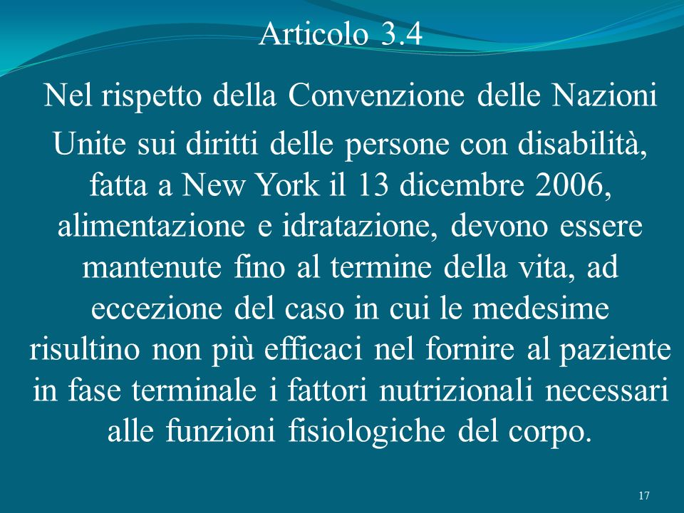 Nel rispetto della Convenzione delle Nazioni