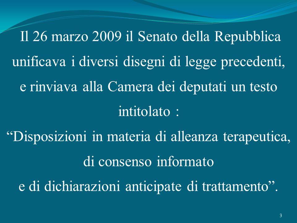 Il 26 marzo 2009 il Senato della Repubblica