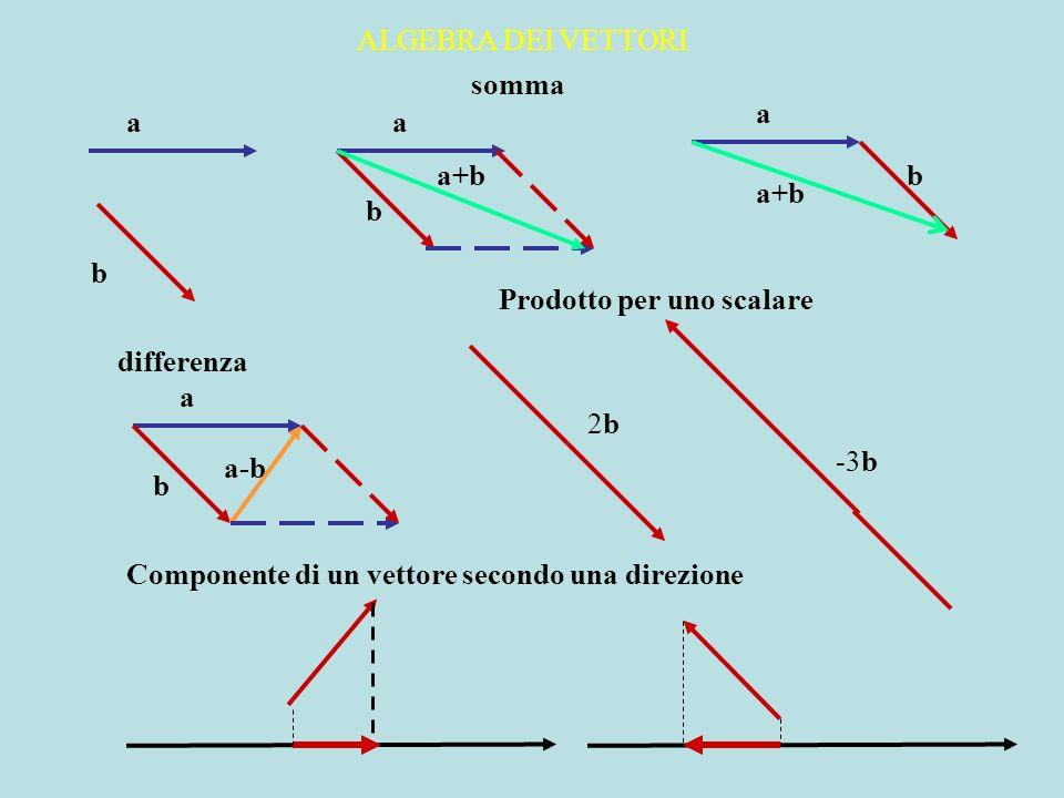ALGEBRA DEI VETTORIsomma. a. a. a. a+b. b. a+b. b. b. Prodotto per uno scalare. differenza. a. 2b. a-b.
