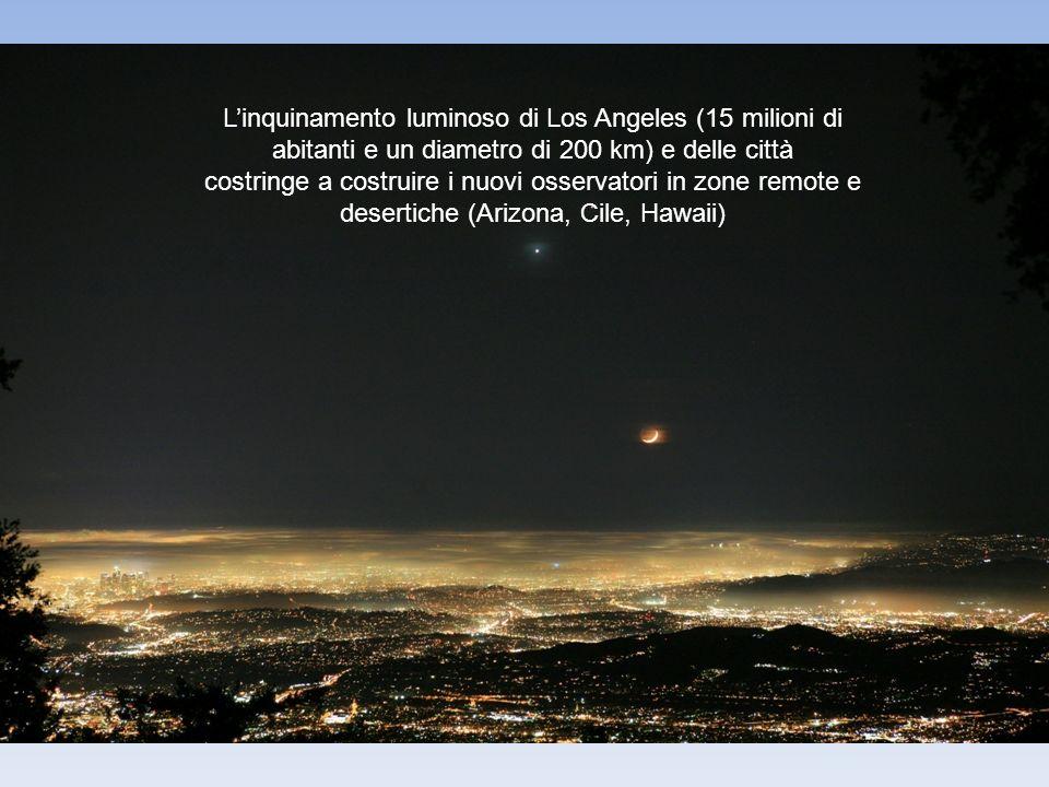 L'inquinamento luminoso di Los Angeles (15 milioni di abitanti e un diametro di 200 km) e delle città