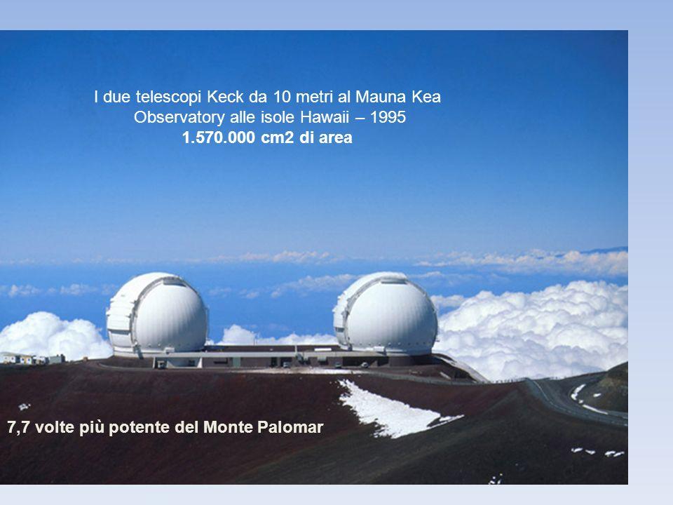 I due telescopi Keck da 10 metri al Mauna Kea